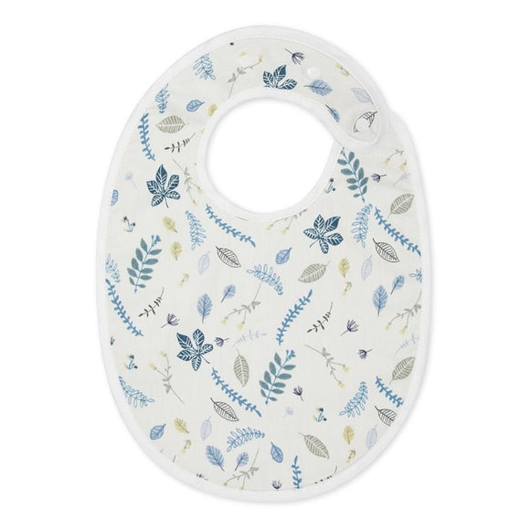Classic Bib - Pressed Leaves Blue