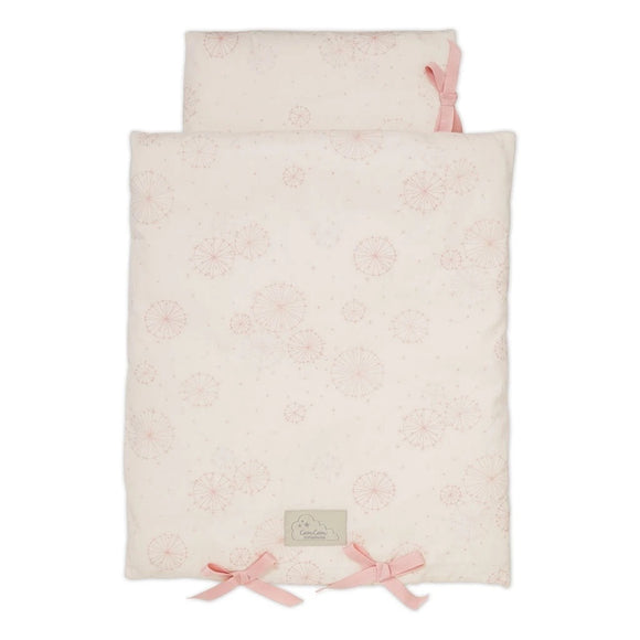 Doll's Bedding - GOTS Dandelion Rose