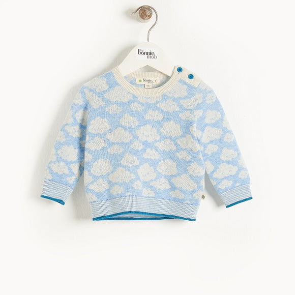 The Bonnie Mob Hope Blue Jaquard Sweater
