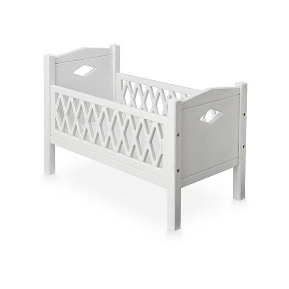 Doll's Harlequin Bed - White