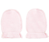 Absorba Pink Cotton Scratch Mitts