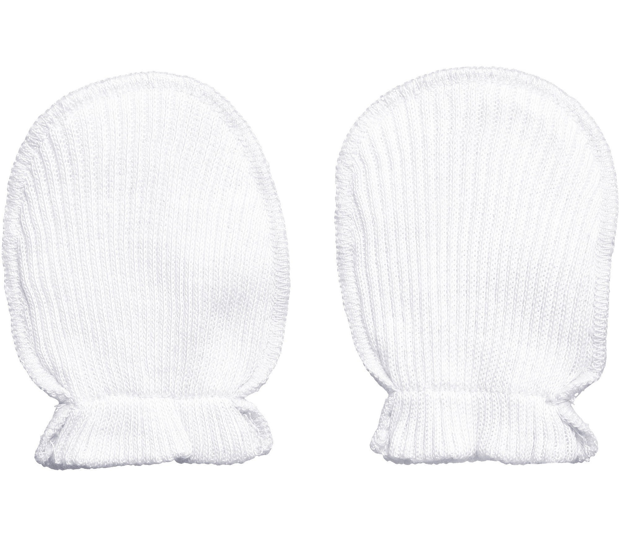 Absorba White Cotton Scratch Mitts