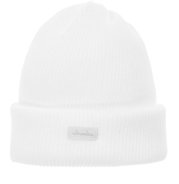 Absorba white cotton newborn hat