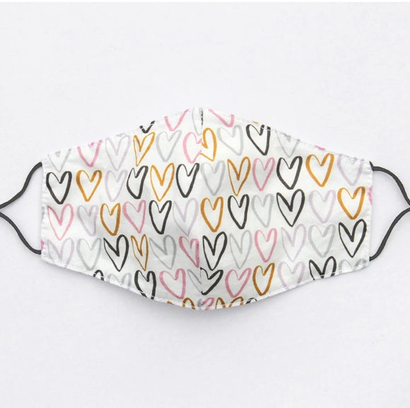 Hearts Cotton Facemask