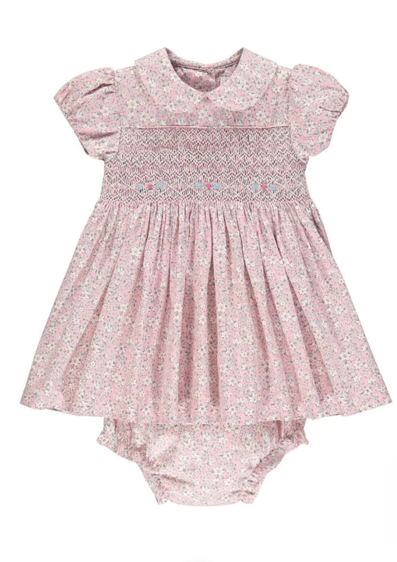 Handsmocked Floral Baby Girl Dress