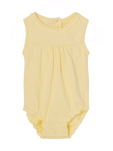 Mini A Ture Pale Yellow Sleeveless Romper