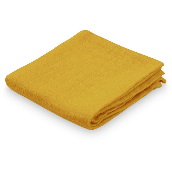Muslin Cloth - GOTS Mustard