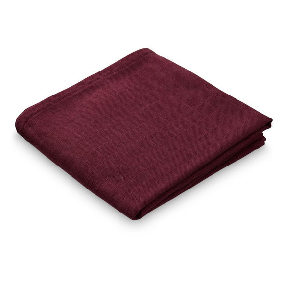 Muslin Cloth - GOTS Bordeaux