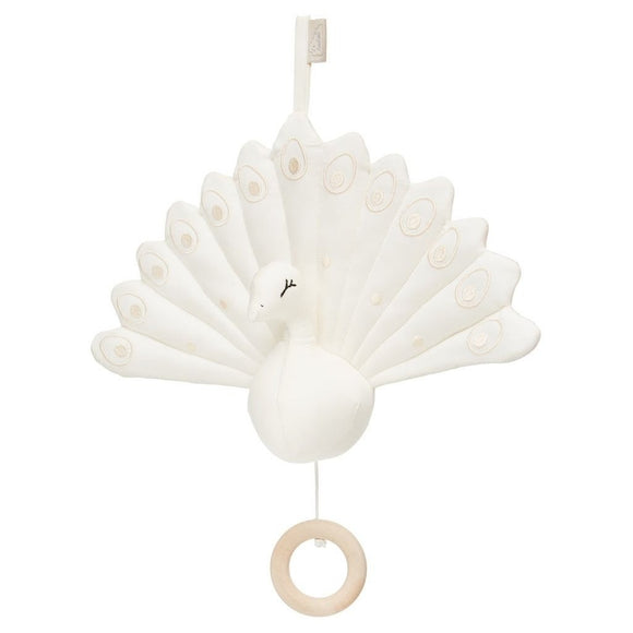 Peacock Musical Mobile - OCS Cream White
