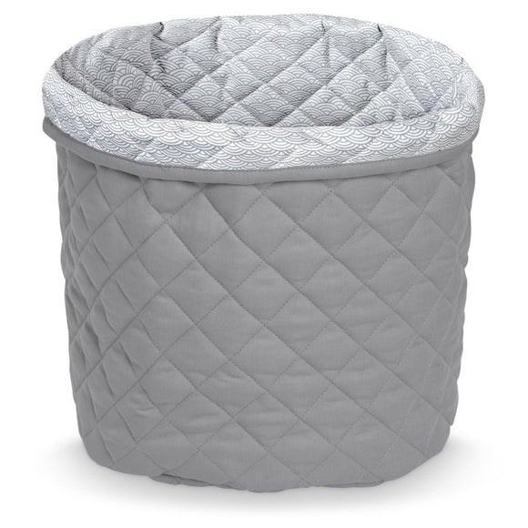 Quilted Medium Storage Basket - OCS Grey