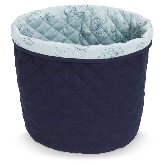 Quilted Medium Storage Basket - OCS Navy
