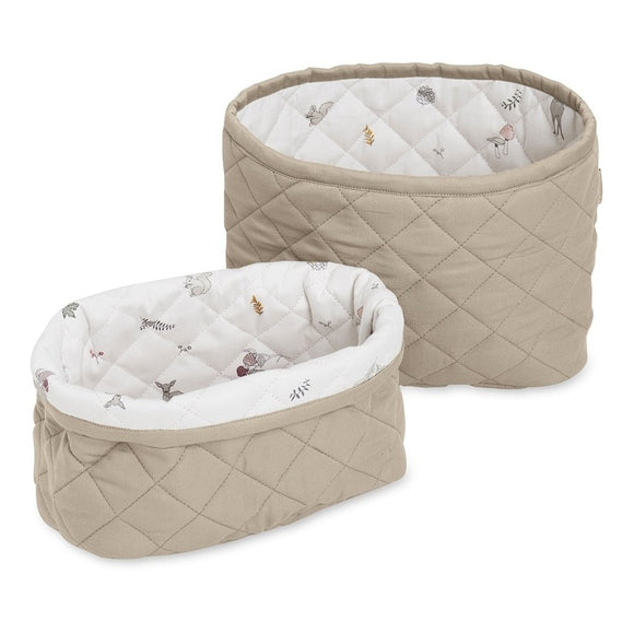 Quilted Storage Basket Set - OCS Hazel