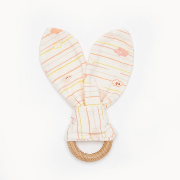 The Bonnie Mob Santa Cruz Peach Teething Ring