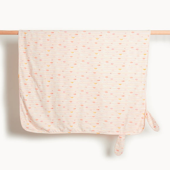 The Bonnie Mob Santorini Peach Blanket With Hood