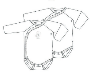 Set of 2 Long Sleeve Crossover Bodies
