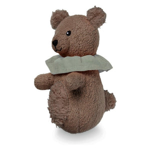 Soft Animal Rattle - GOTS Bear