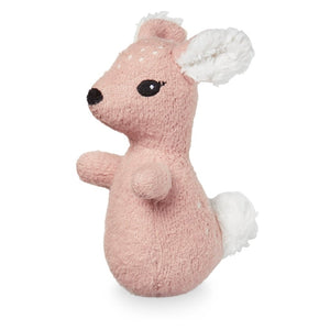 Soft Animal Rattle - GOTS Fawn