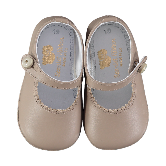 Lucy Taupe Baby Shoes