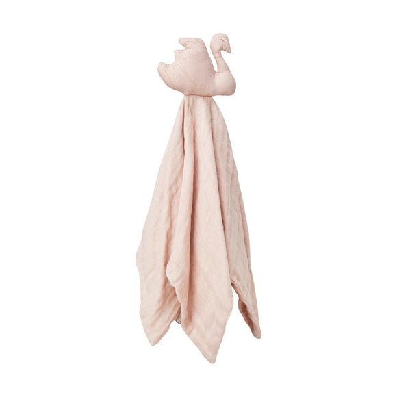 Swan Cuddle Cloth - GOTS Blossom Pink