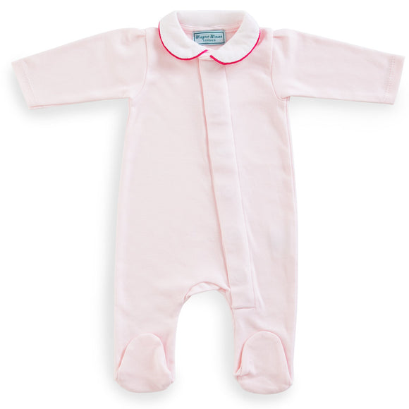 Classic Pale Pink Cotton Babygrow