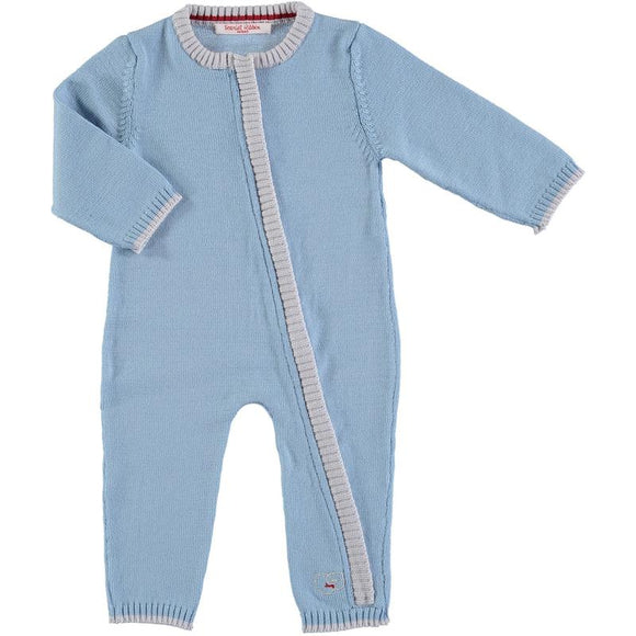 Scarlet Ribbon Merino Blue Daysuit