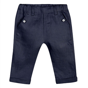 Tartine et Chocolat Ceremonie Navy Linen Trousers