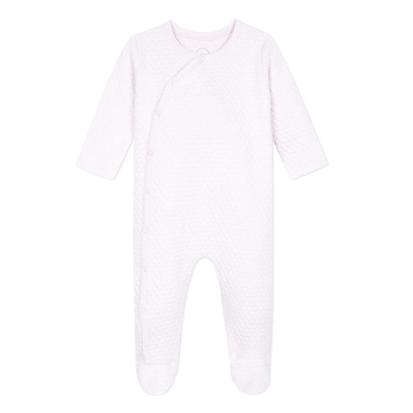 Quilted Pink Sleepsuit