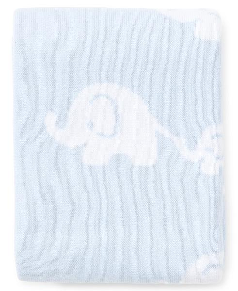 Kissy Kissy Elephant Blue Novelty Blanket
