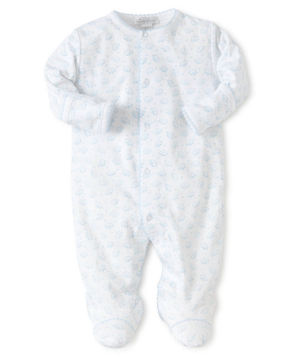 Kissy Kissy Ele-fun Blue Print Sleepsuit