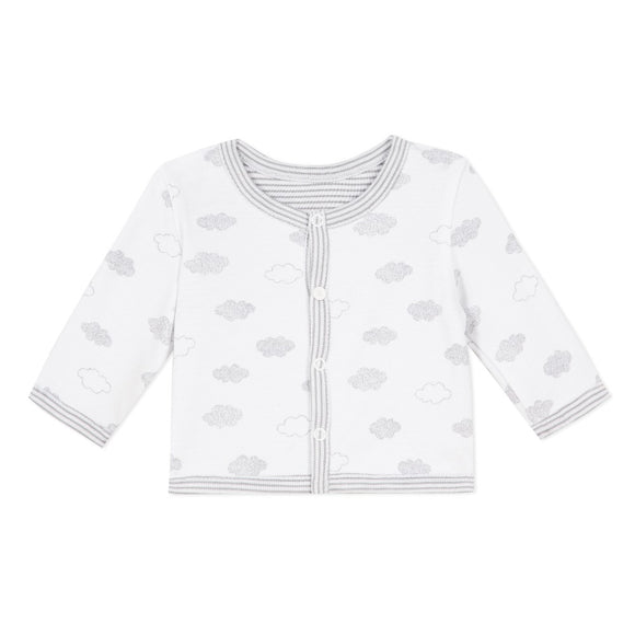 Clouds Print White Jacket