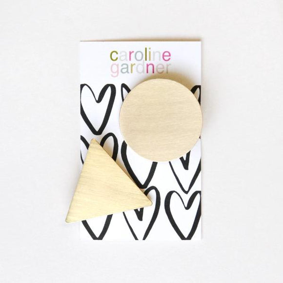 Caroline Gardner Gold Geometric Hair Clips