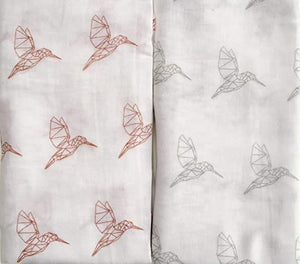 mam designs hummingbird muslin swaddles