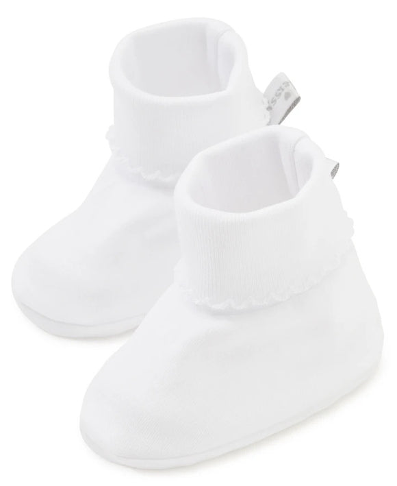 Kissy Kissy White Baby Booties
