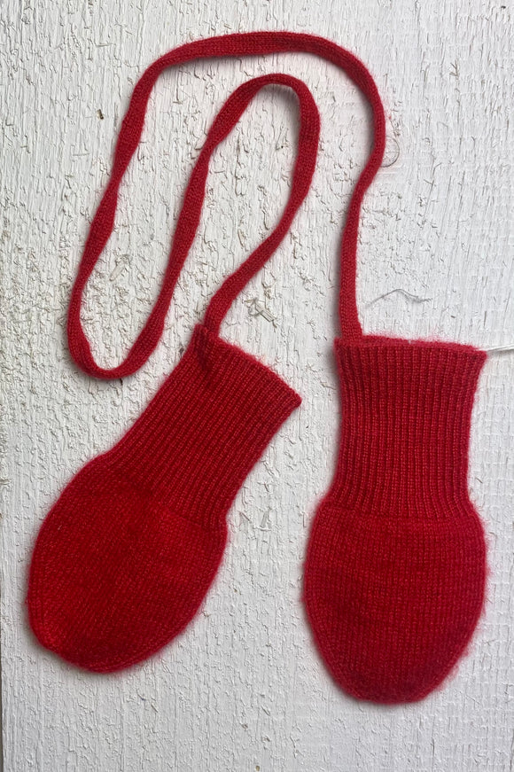 Red Cashmere Mittens size 3-6 months