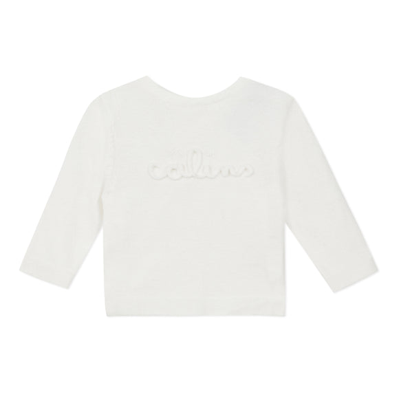 Pure White Calins Reversible Cardigan Jumper