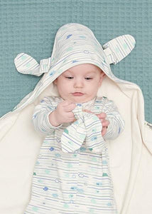Sleepsuit and Blanket Cloud Stripe Gift Box
