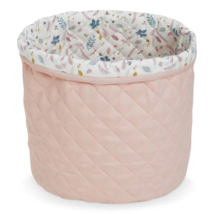 Quilted Medium Storage Basket - OCS Blossom Pink