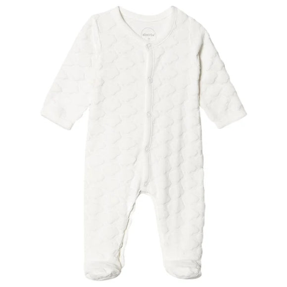 Absorba white cloud sleepsuit