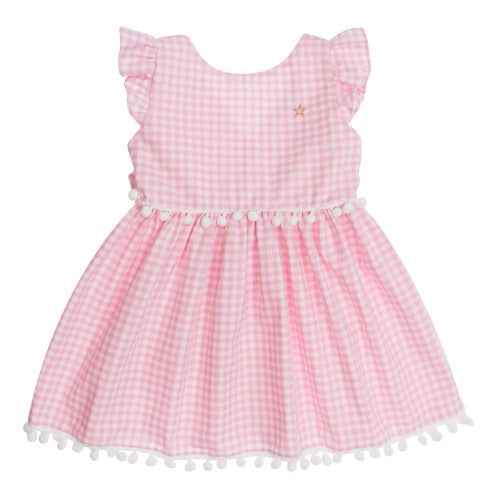 Pink and white Gingham Dress - 3 years