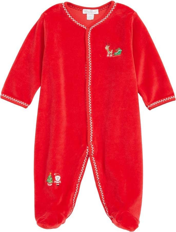 Christmas Velour Sleepsuit - 6-9 months