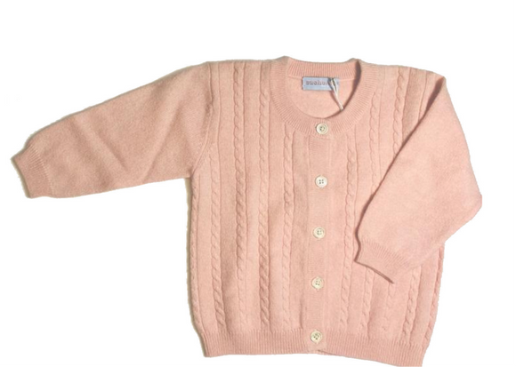 Pink Cashmere Cable Knit Cardigan size 2 years