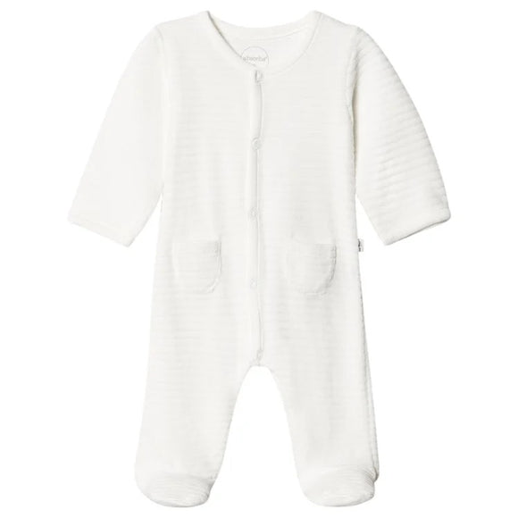 absorba white ribbed baby grow