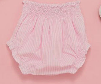 Pink and white stripe Bloomers - 12-18 months
