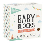 Milestone Baby Blocks for Age and Moments