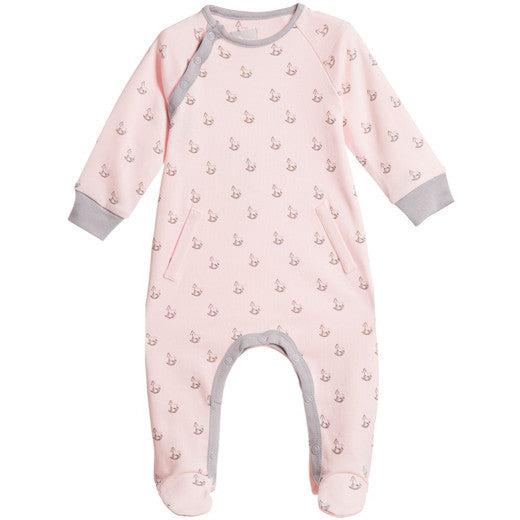 The Little Tailor Rocking Horse Print Babygrow