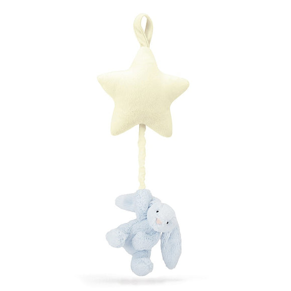 Jellycat Bashful Blue Bunny Star Music Pull