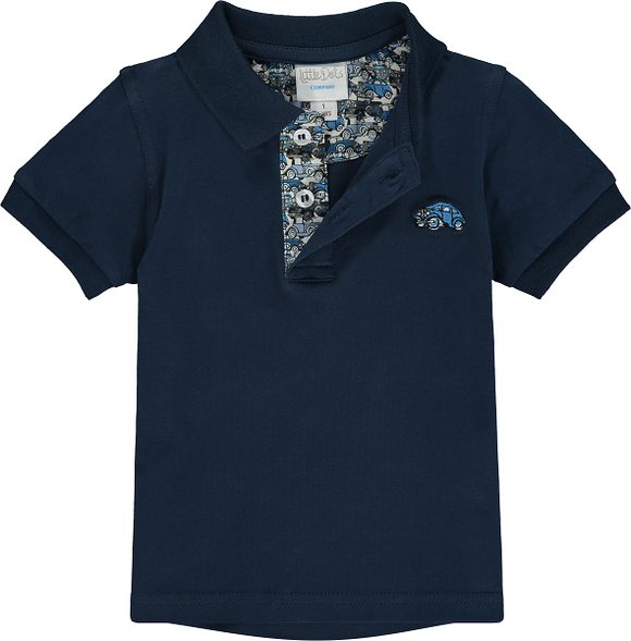 Polo Shirt With Liberty Roaring Wheels Print
