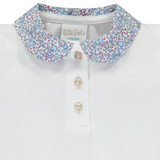 Polo Shirt With Liberty Blue Eloise Collar