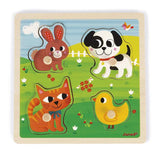 Janod My First Animals Tactile Puzzle