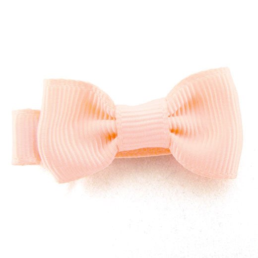 Peach Ribbons Small Hair Bow